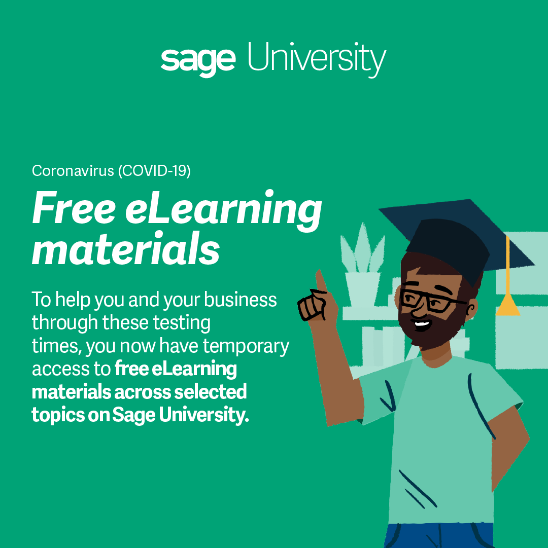 Covid-19 Banner: To help you and your business through these testing times, you now have temporary access to Free eLeanring Materials across selected topics on Sage University